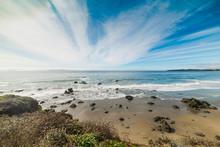 Clouds Over Central California Coastline