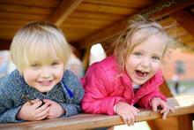 Happy Kids Having Fun On Outdo...