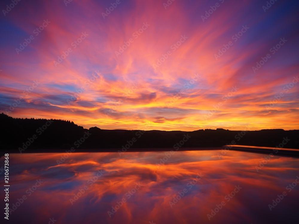Fototapety, obrazy: Sunset reflection