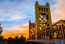Artistic Sunset In Sacramento