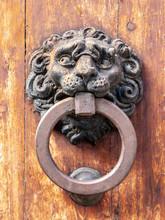 Vintage Metal Door Knocker On ...