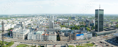 fototapeta na szkło Warsaw New City Panorama