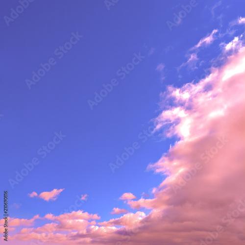 Pink unicorn sky. Minimal mood - 210690816