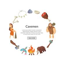 Vector Cartoon Cavemen