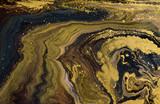 Marmur streszczenie tło akrylowe. Marmurkowe grafiki tekstury. Agatowy wzór tętnienia. Złoty proszek - 210692825
