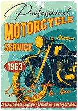 Vintage Motorcycle T-shirt Or ...