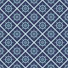 Maritime Mood, Seamless Nautical Pattern With Steering Wheels, Vintage Style