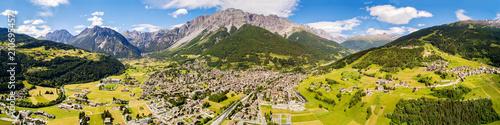 Bormio - Valtellina (IT) - Vista aerea panoramica