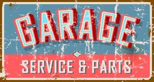 Vintage Weathered Garage Sign,...
