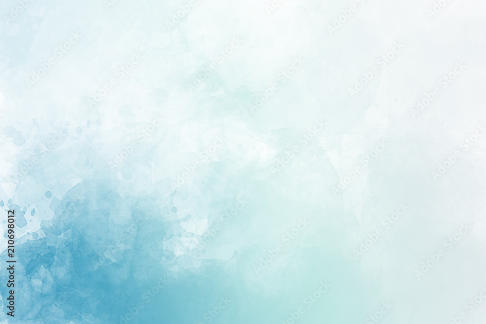 Light blue watercolor background - obrazy, fototapety, plakaty