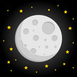 moon illustration. vector template ready for use