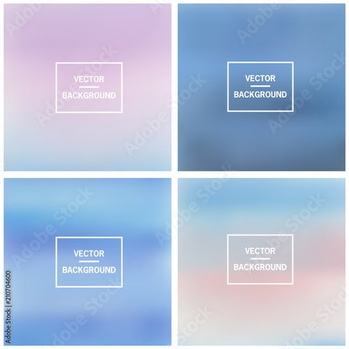 Photo  Abstract colorful blurred vector backgrounds