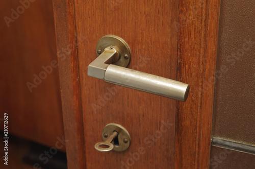poign e de porte en bois vintage art d co maison ancienne. Black Bedroom Furniture Sets. Home Design Ideas