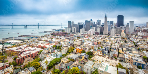 San Francisco skyline panorama, California, USA