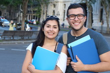 Couple Of International Students Abroad