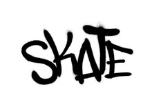 Sprayed Skate Font Graffiti Wi...