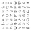 Premium set of banking line icons.