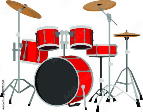 Valokuvatapetti Red Drum Set