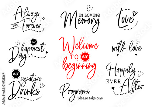 Obraz welcome to our wedding lettering - fototapety do salonu