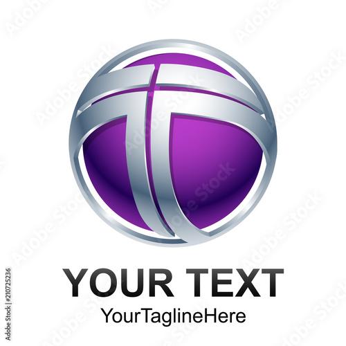 letter T logo design vector Poster