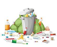 Littering Garbage. Pile Of Gar...