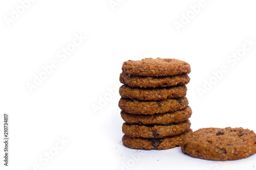 Fotobehang Koekjes chocolate chip cookies