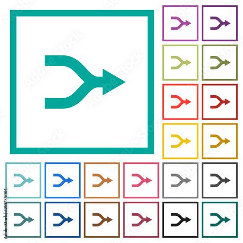 Merge arrows flat color icons with quadrant frames Canvas Print