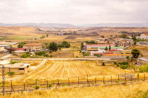 In de dag Meloen Sicilian Landscape