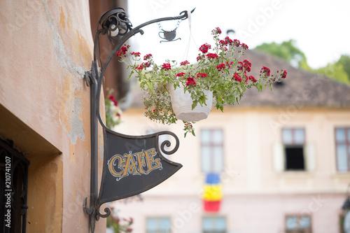 Fotografie, Obraz  Cafe sigh in Sighisoara