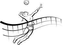 Volleyball Flowing Net Female