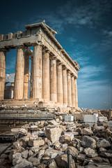 Panel Szklany Miasta Parthenon on Acropolis of Athens, Greece. Greek temple on sky background.