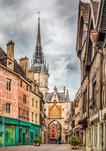 Historic town of Auxerre, Burgundy, France Wall mural
