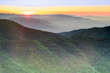 Sunset Views from Mt Umunhum Summit. Sierra Azul Open Space Preserve, Santa Clara County, California, USA.