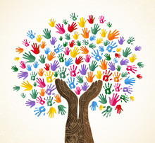 Human Hand Tree For Culture Di...