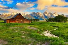 Mormon Row With The Grand Teto...