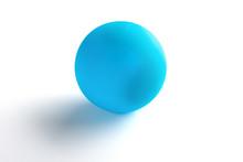 Blue Massage Ball On White Background