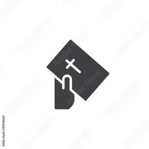 Fotografie, Obraz  Hand give bible book vector icon