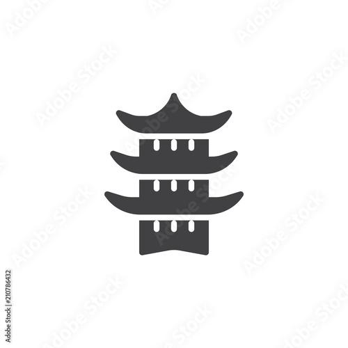 Valokuva Japanese temple vector icon