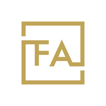 Two Letter Logo Line Square FA TO FZ