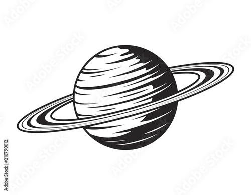Obraz Vintage saturn planet concept - fototapety do salonu