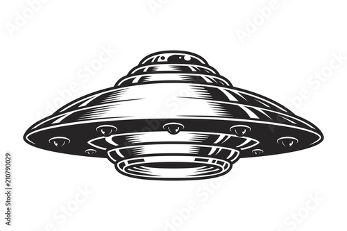 Fotografía Vintage UFO spaceship concept