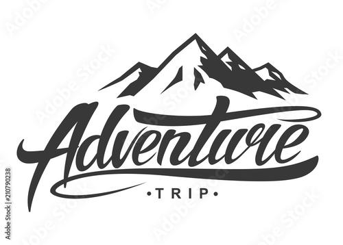 Obraz Adventure vintage logo - fototapety do salonu