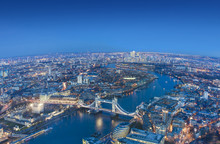 Wide View Of London City In A ...