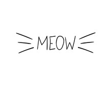 Vector Meow Illustration, Cat ...