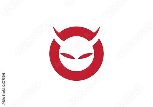 Devil logo vector Tableau sur Toile