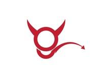 G Letter,Devil Logo Vector