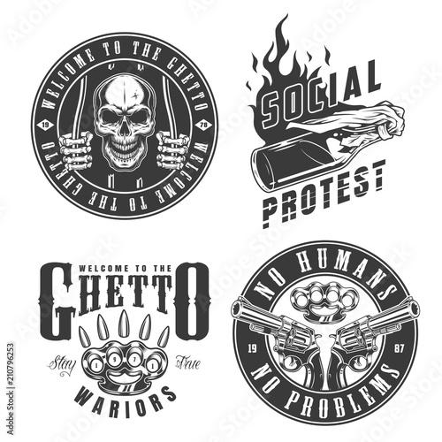Vászonkép  Set of gangster emblems