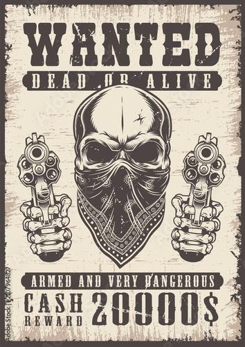 Vászonkép  wanted vintage poster