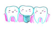 Illustration Of Happy Teeth Wi...
