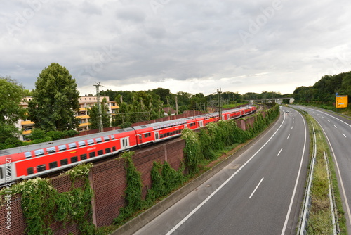 Foto op Aluminium Spoorlijn Bahnstrecke Fulda–Hanau